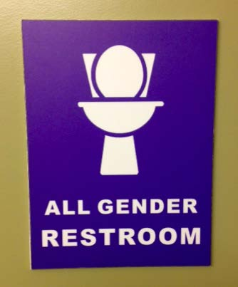 All gender restroom.