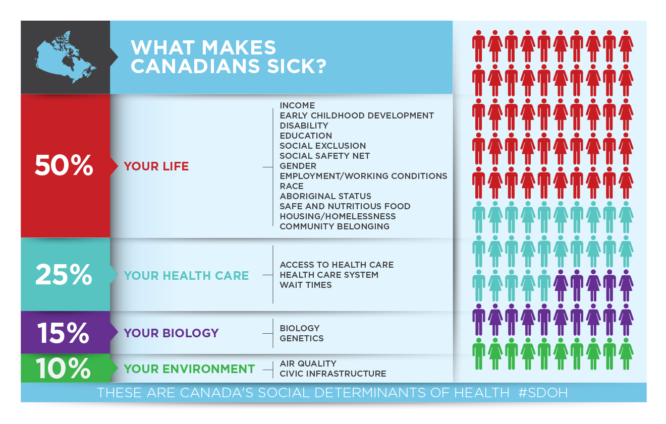 What makes Canadians sick infographic.