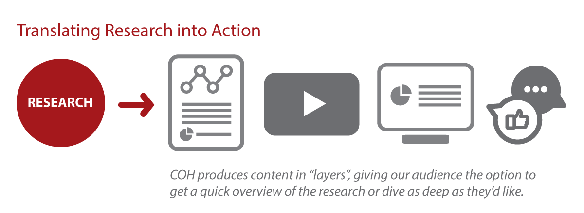 The process of translating research into action.