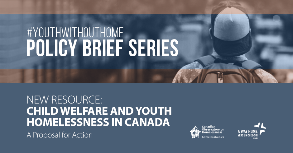 Child welfare and youth homelessness in Canada banner