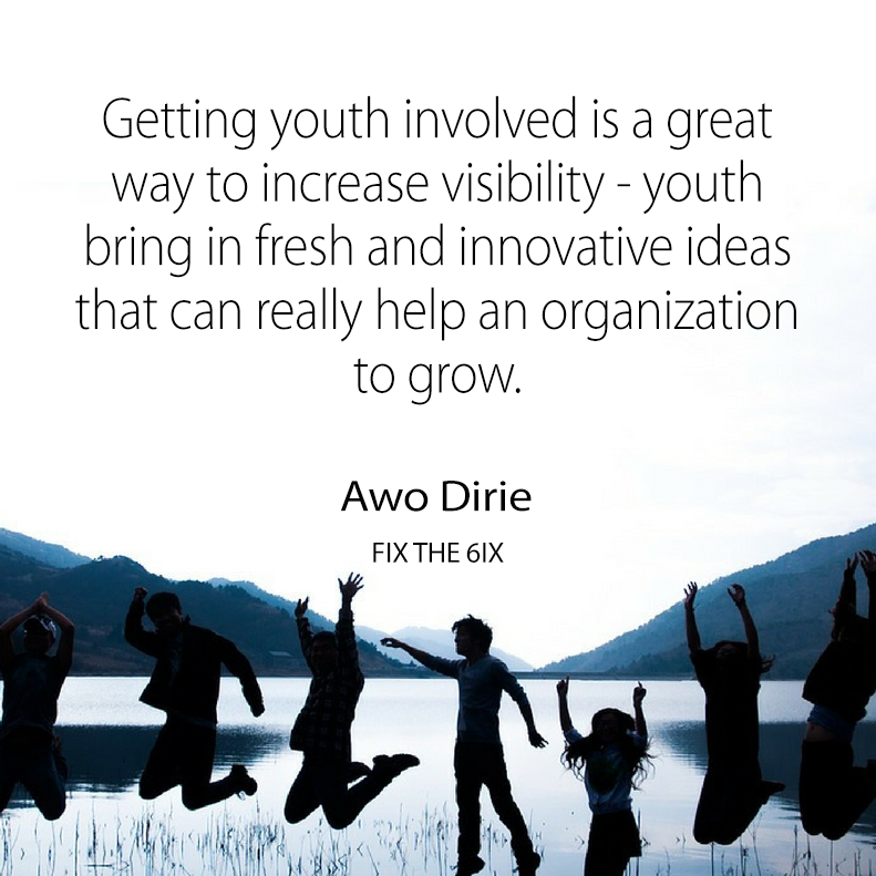 . Youth bring in fresh and innovative ideas that can also help an organization to grow and develop.