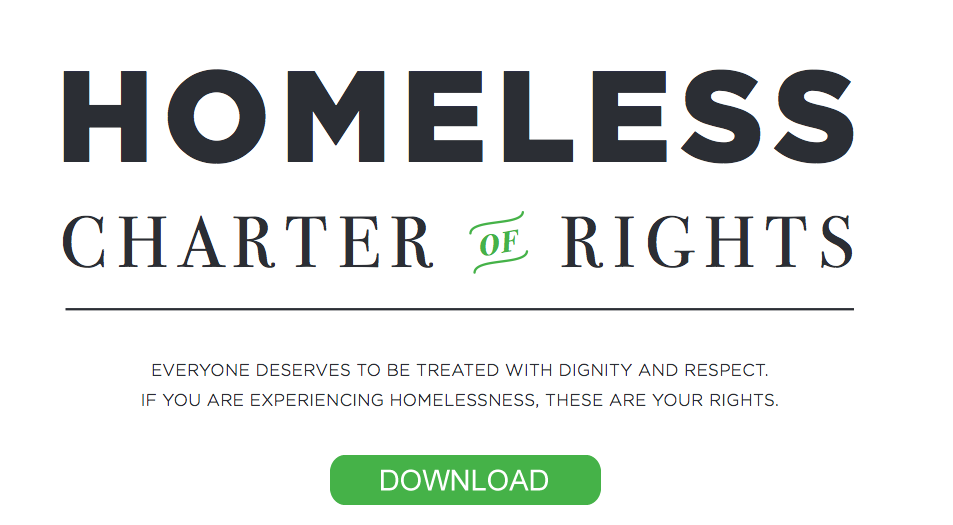 Download the Homeless Charter of Rights