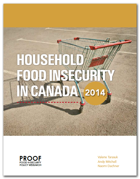 Cover of the PROOF 2014 report on food insecurity in Canada.