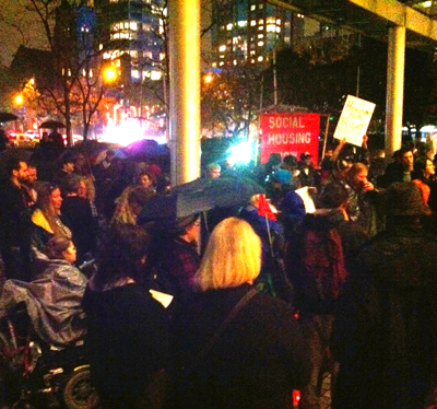 Photo of protesters against the National Conference on Ending Homelessness