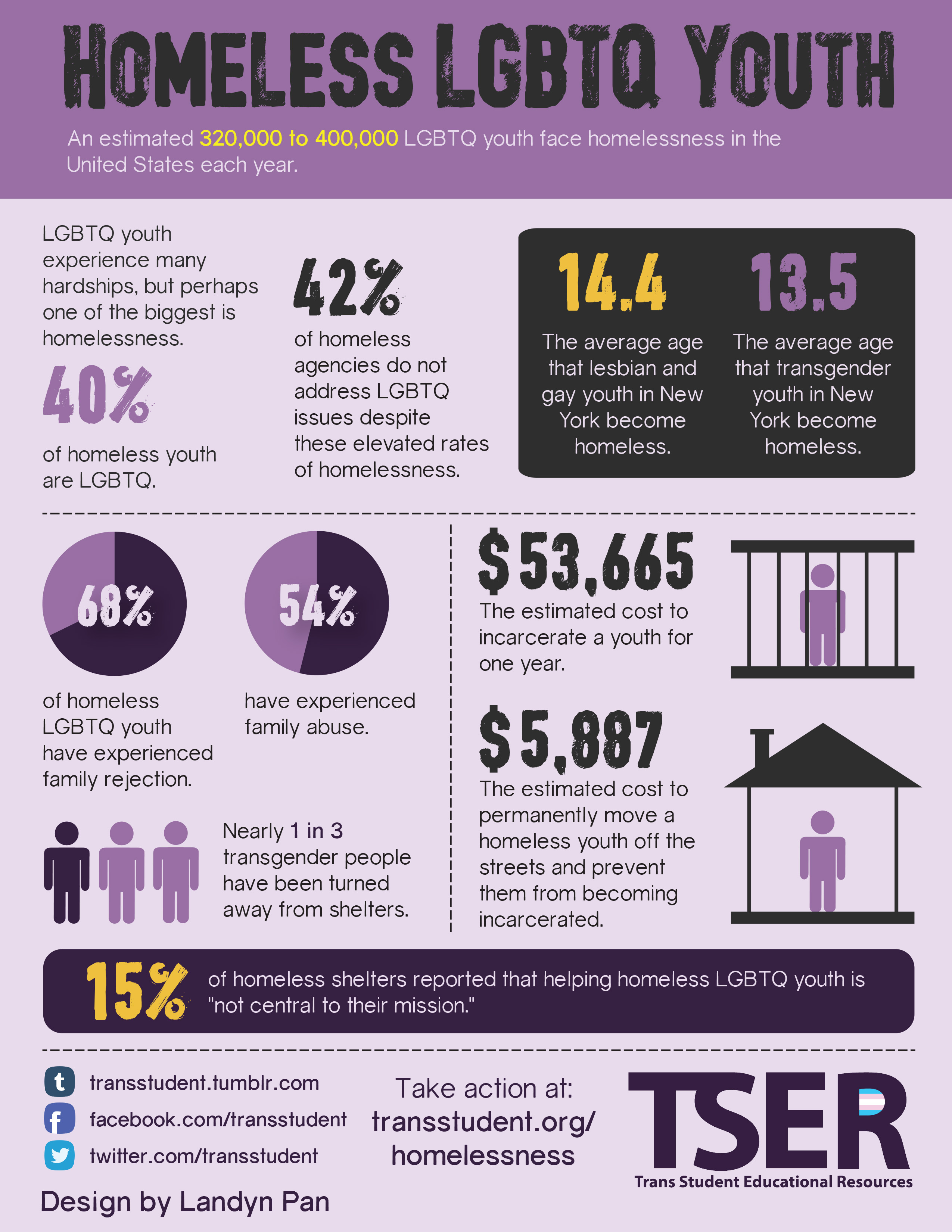 Homeless LGBTQ Youth Infographic