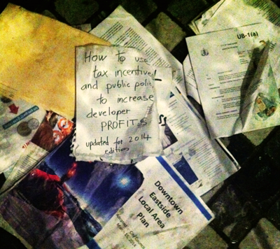 A pile of research reports on the ground.