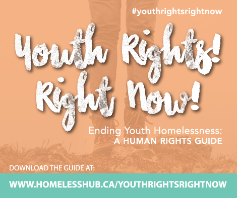 Youth Rights! Right Now! Ending Youth Homelessness: A Human Rights Guide promotional image #youthrightsrightnow