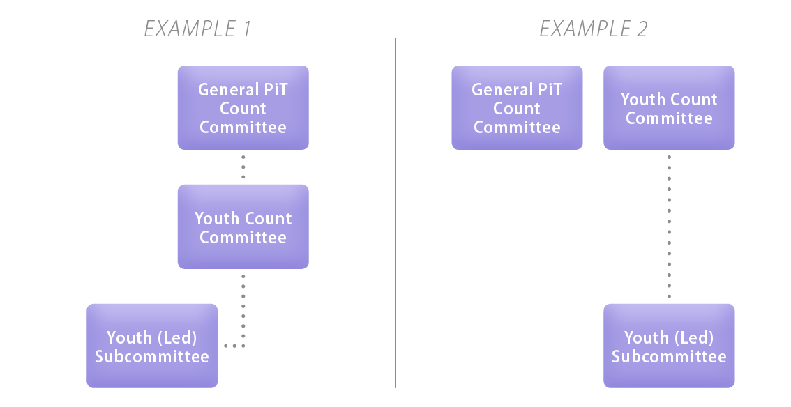 Example 1 and 2 for various ways of structuring committees