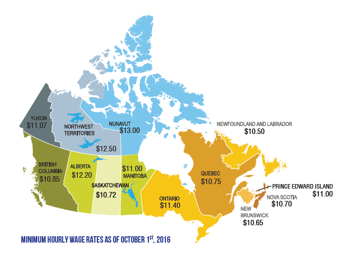 Living wages across Canada