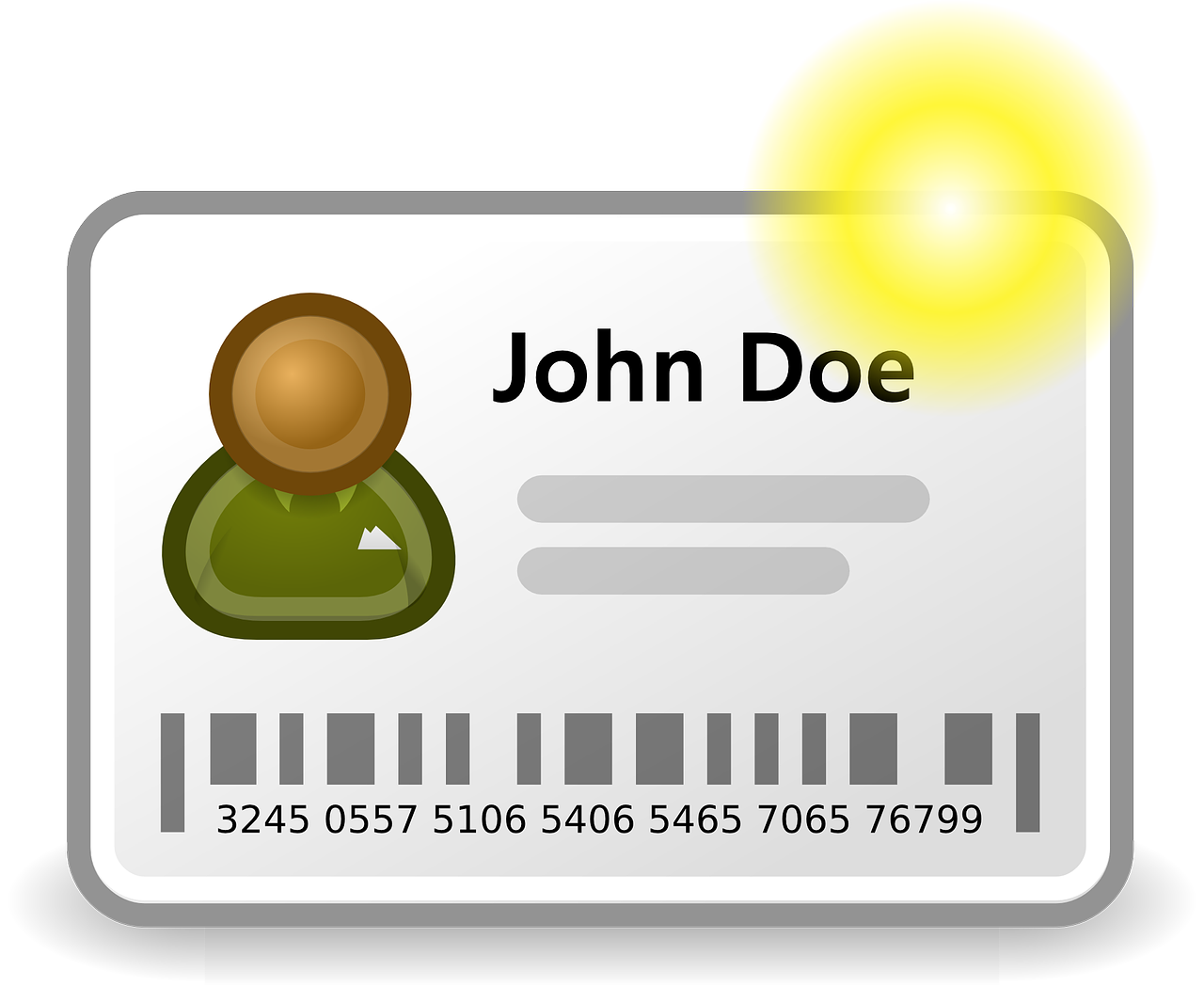 An illustration of John Doe's ID