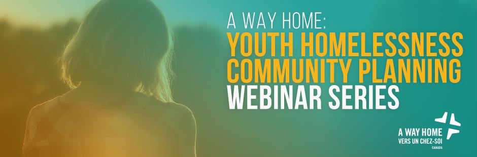 Banner for youth homelessness webinar